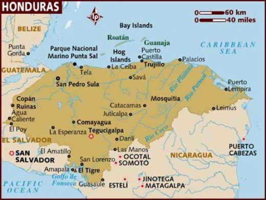 Map of Honduras | Global Health Dispatch
